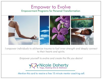 Empower to Evolve Postcard Front